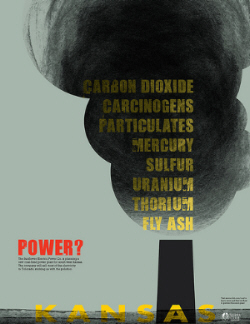 kansas coal power poster