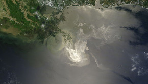 satellite gulf oil spill