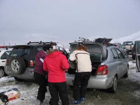 car ski trip