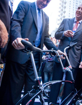 clinton folding bike