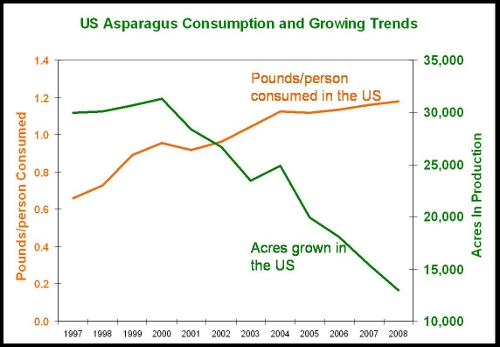 Asparagus Consumption and Planting Trends