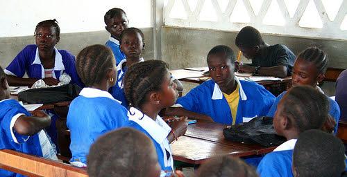 school children in gambia, africa