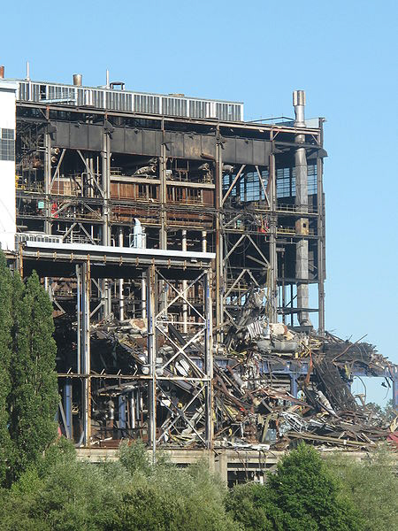 a deconstructed coal plant in france