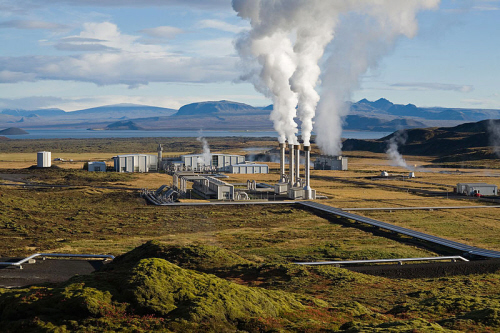 Nesjavellir geothermal power plant in iceland