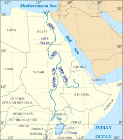 map of the nile basin