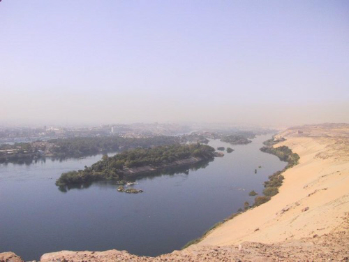 the nile river at aswan egypt