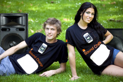 orange sound charge t-shirts