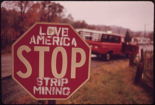 strip mining protest sign in ohio