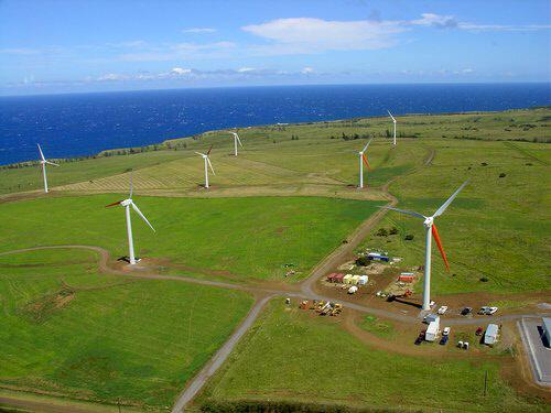wind farm near hawi, hawaii
