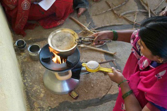 the biolite homestove during field trials in india