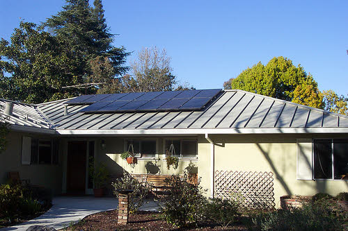 solar system on home in menlo park california