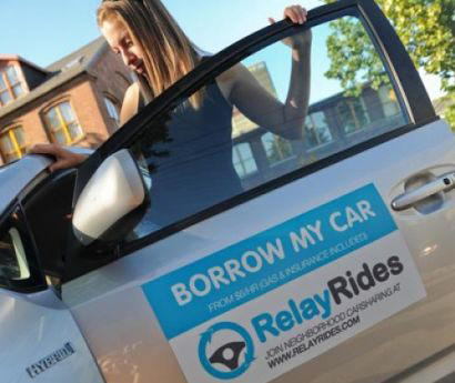 peer to peer car sharing service relay rides