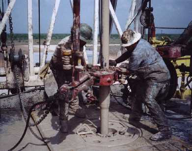 oil right workers, or roughnecks