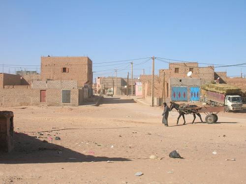 mhamid morocco at the edge of the sahara desert