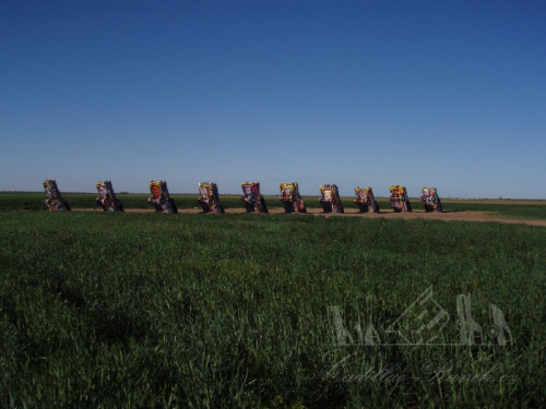 the cadillac ranch art installation