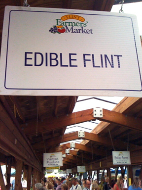 edible flint at the farmers market