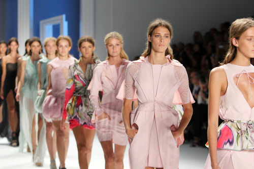 models display new items from the designers of fashion week
