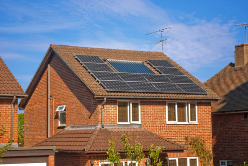 solar powered home in the uk