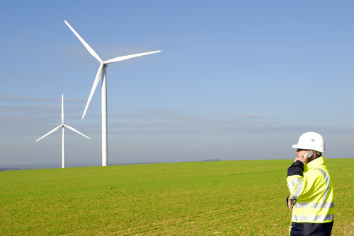 a green collar job: wind turbine technician