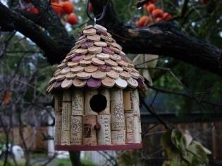 Wine Corks Bird House