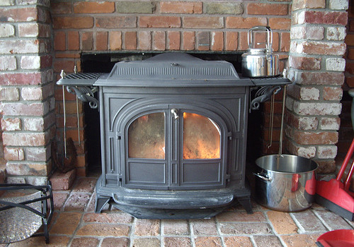 wood heat stove