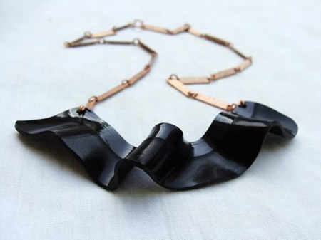 Vinyl Strip Necklace