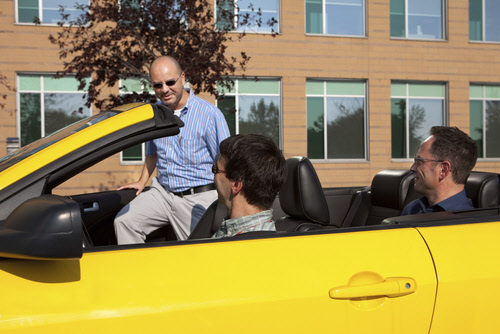 coworkers carpooling
