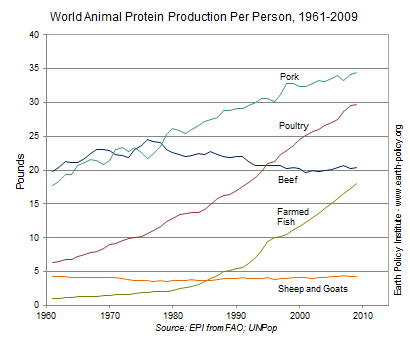 meat consumption rising