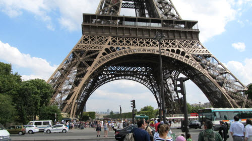 the base of the eiffel tower