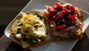 holiday leftovers sandwich