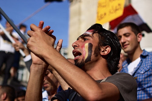 arab spring protestors 2011