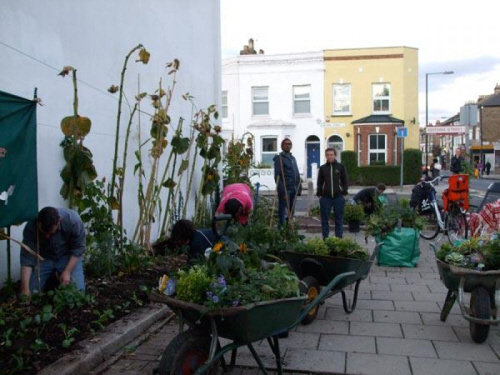 edible bus stop a community garden in london uk