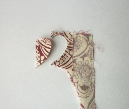 handmade valentine garland step 3