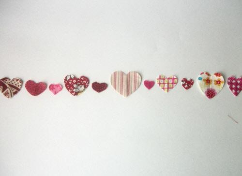 handmade valentine garland step 6
