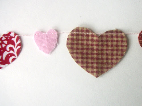 handmade valentine garland step 8