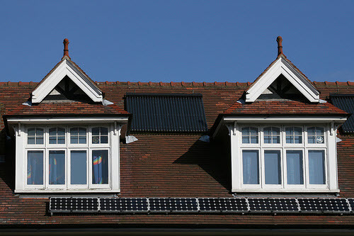 solar panels on a home in the uk
