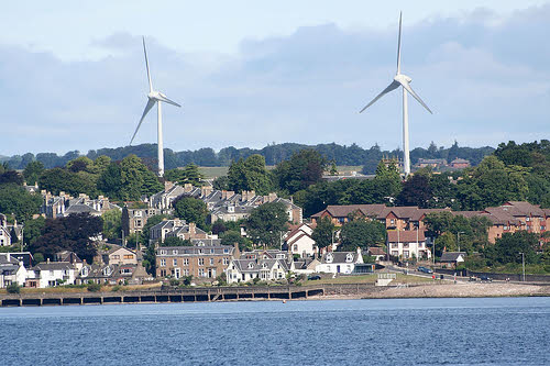wind turbines in tayside scotland