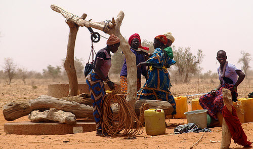 water well in the african desert
