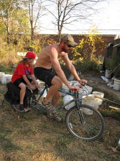 bicycling at dancing rabbit ecovillage
