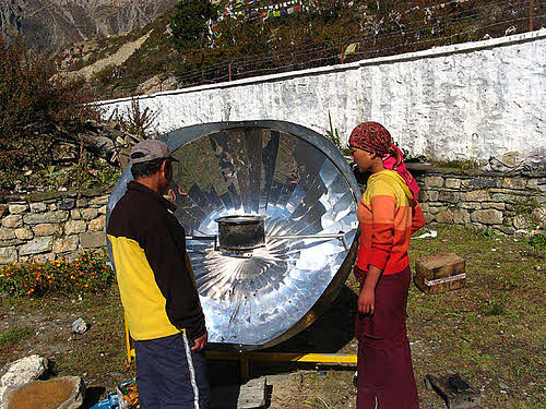 solar cooker in nepal