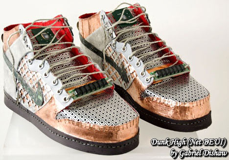 shoes made from reused circuit boards