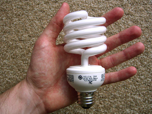 compact fluorescent light bulb cfl
