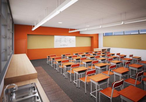 artist rendering of green classroom for davis magnet school