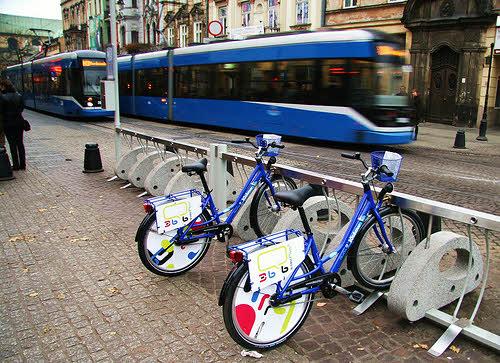 bike share station near public transit