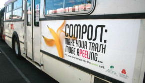 composting bus advertisement