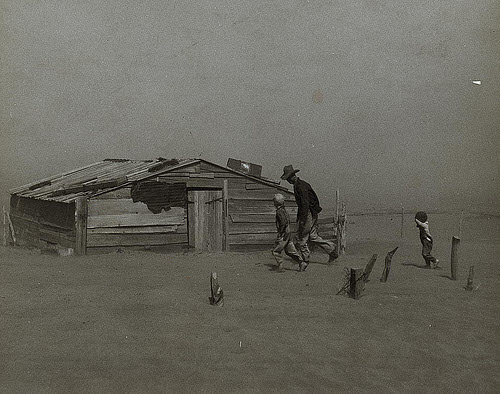 dust bowl condiitons in 1930s oklahoma