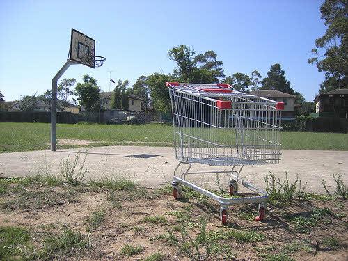 abandoned suburban neighborhoood
