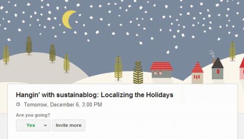 hangin with sustainablog local holidays