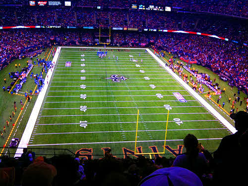 superdome football field