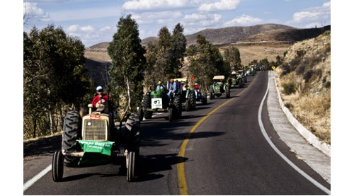 food sovereignty protest with tractors